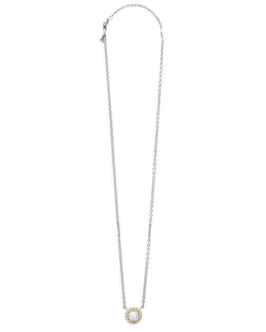 Lagos - White Stone Pendant Necklace - Lyst