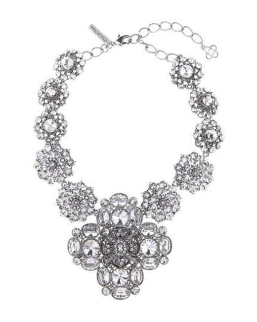 Oscar de la Renta - Metallic Jewel Collar Necklace - Lyst