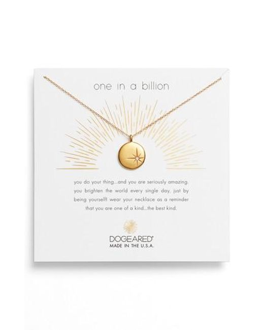 Dogeared - Metallic One In A Million Pendant Necklace - Lyst