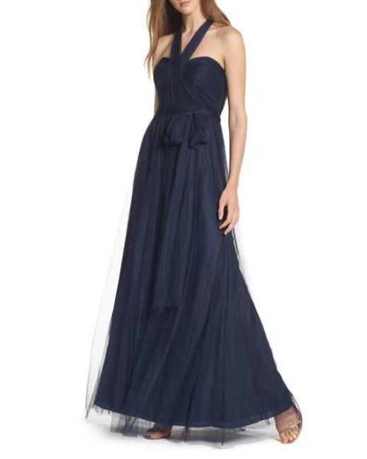 Jenny Yoo - Pink 'annabelle' Convertible Tulle Column Dress - Lyst