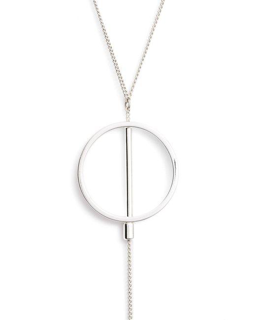 Jenny Bird - Metallic Rhine Lariat Necklace - Lyst