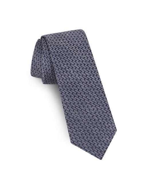 Ted Baker - Blue Solid Silk & Linen Tie for Men - Lyst