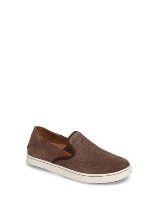 Olukai | Brown Pehuea Slip-on Sneaker | Lyst