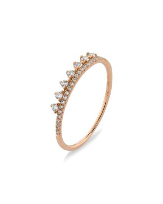 Bony Levy | Metallic 'princess Crown' Stackable Diamond Ring (nordstrom Exclusive) | Lyst