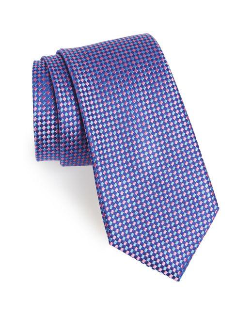 Nordstrom Blue Check Silk Tie for men