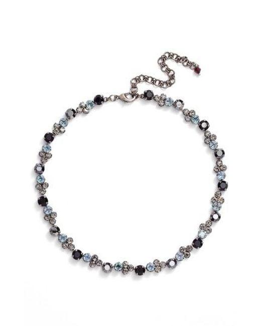 Sorrelli - Black Crystal Collar Necklace - Lyst