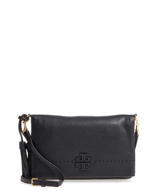 Tory Burch - Black Mcgraw Leather Crossbody Bag - Lyst