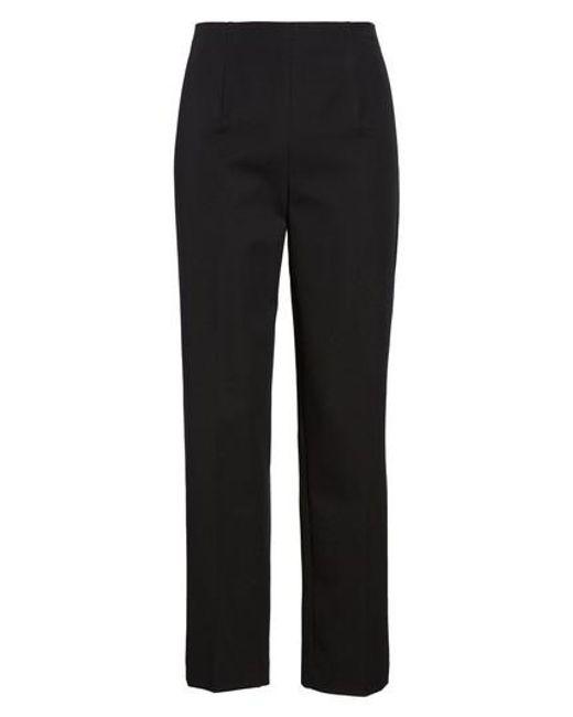 Ming Wang - Black Woven Slim Ankle Pants - Lyst