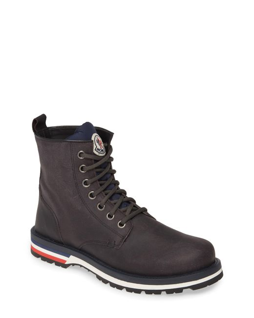 Moncler Gray New Vancouver Plain Toe Boot for men