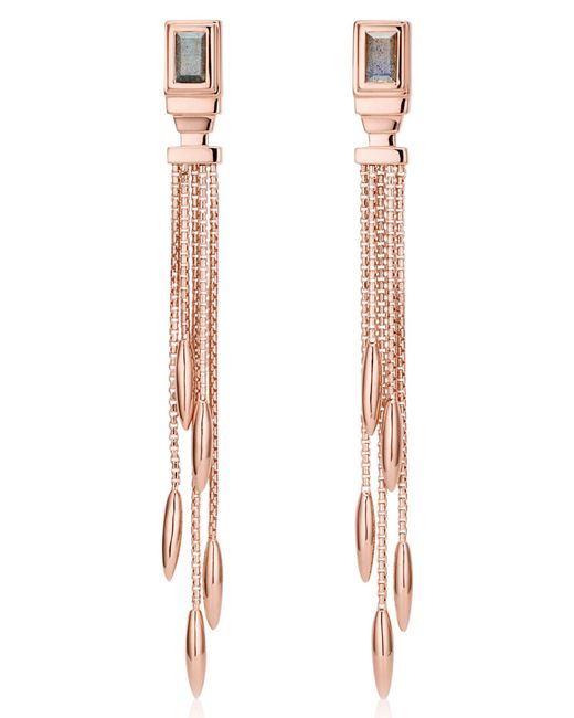 Monica Vinader - Metallic Baja Deco Fringe Earrings - Lyst