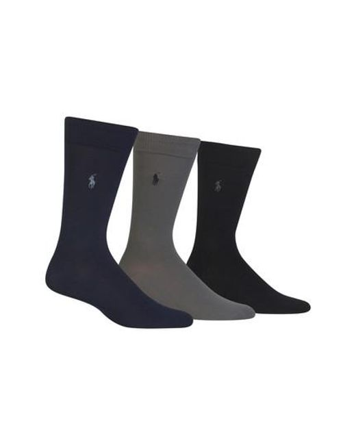 Polo Ralph Lauren | Assorted 3-pack Supersoft Socks, Blue for Men | Lyst