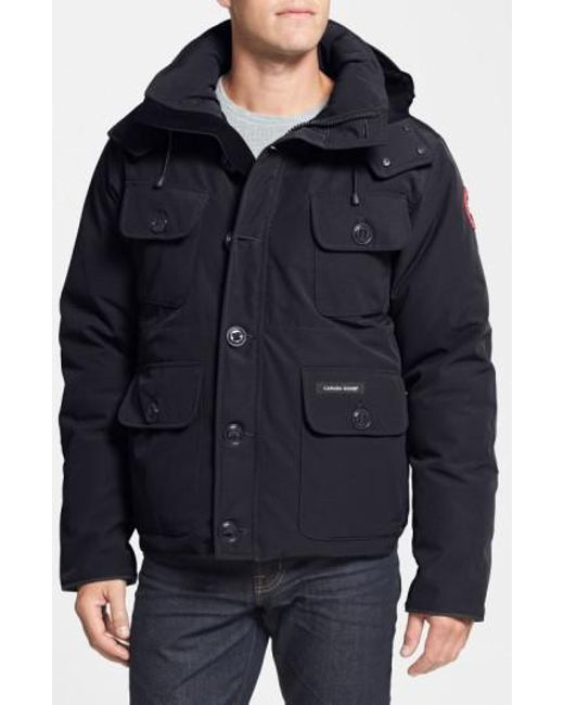 Canada Goose   Black 'selkirk' Slim Fit Water Resistant Down Parka With Detachable Hood for Men   Lyst