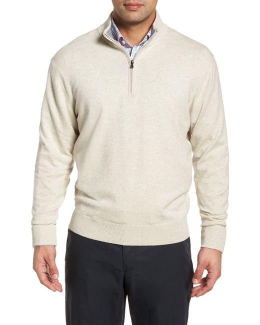 Cutter & Buck Natural Lakemont Classic Fit Quarter Zip Sweater for men