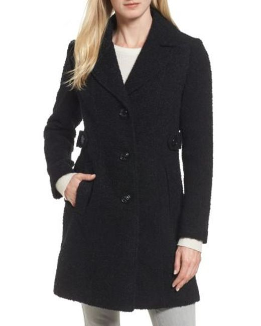 Gallery | Black Boucle Coat | Lyst