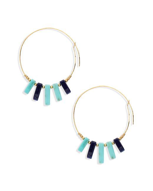 Gas Bijoux - Blue Hoop Earrings - Lyst