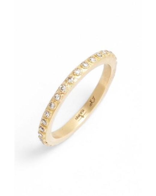 Armenta | Metallic Sueno Champagne Diamond Band Ring | Lyst