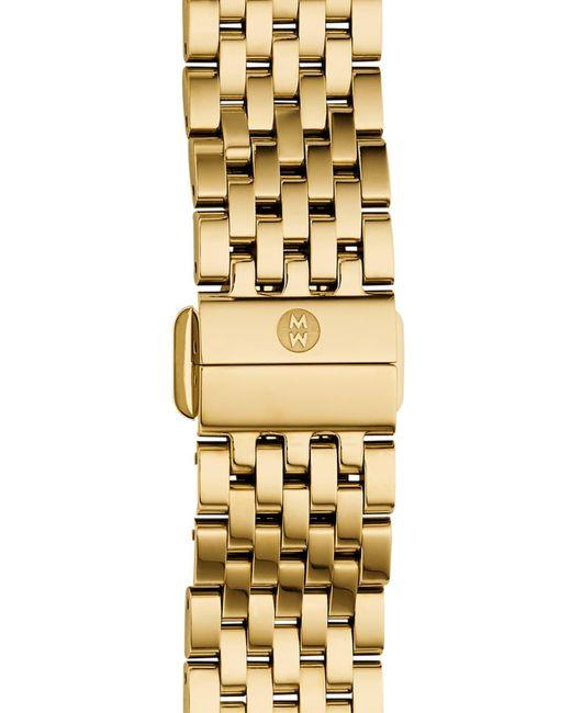 Michele Metallic 'deco Ii' 16mm Bracelet Watchband (nordstrom Exclusive)