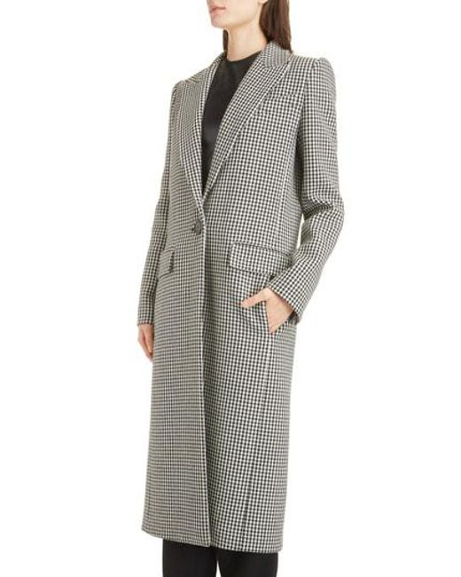 Givenchy - Multicolor Houndstooth Wool Coat - Lyst