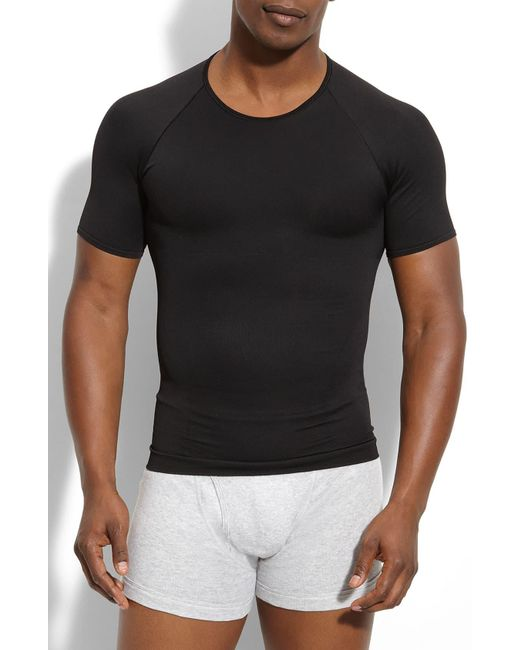Spanx Black Spanx Zoned Performance Crewneck T-shirt for men