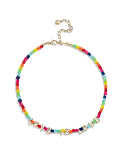 BaubleBar Multicolor Love Is Love Beaded Necklace