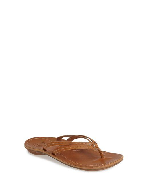 Olukai Brown 'u'i' Thong Sandal