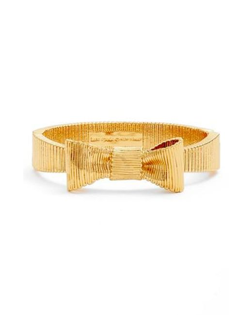 Kate Spade | Metallic All Wrapped Up Bracelet | Lyst