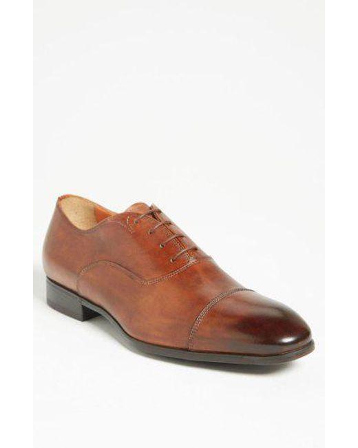 Santoni - Brown Salem Cap Toe Oxford for Men - Lyst
