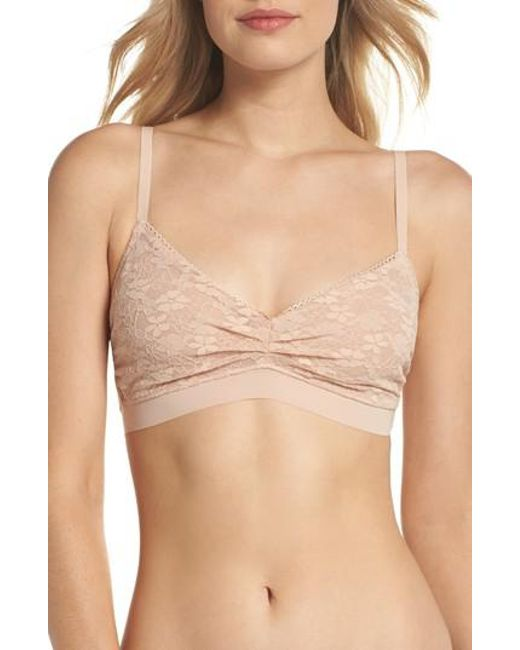 Naked - Natural Luxury Lace Bralette - Lyst