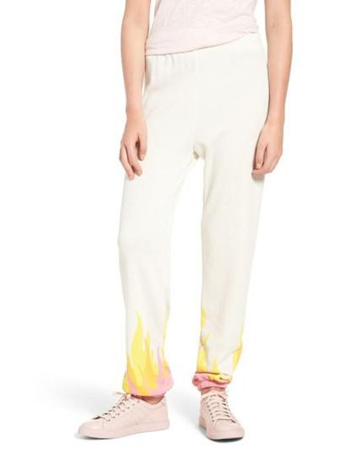 Wildfox | Natural Wildfire Easy Sweatpants | Lyst