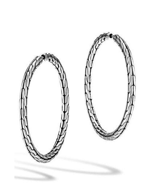 John Hardy - Metallic 'classic Chain' Medium Hoop Earrings - Lyst