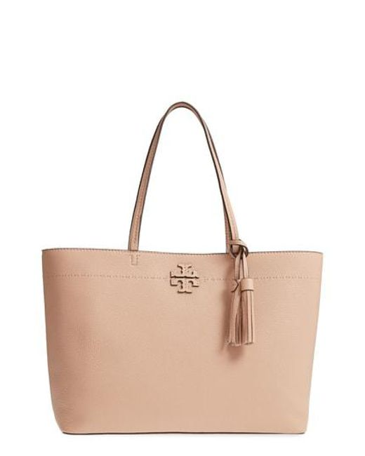Tory Burch - Blue Mcgraw Leather Laptop Tote - Lyst
