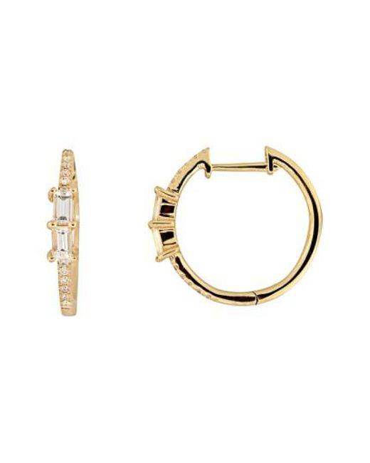 Bony Levy | Metallic Diamond Hoop Earrings (nordstrom Exclusive) | Lyst