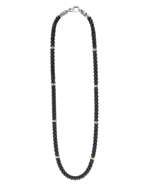 Lagos - Metallic 'black Caviar' Station Rope Necklace - Lyst
