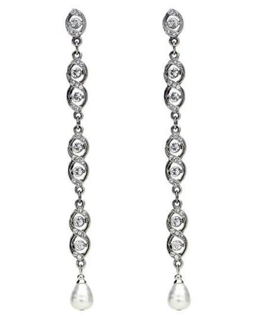 Ben-Amun   Multicolor Faux Pearl & Crystal Linear Drop Earrings   Lyst