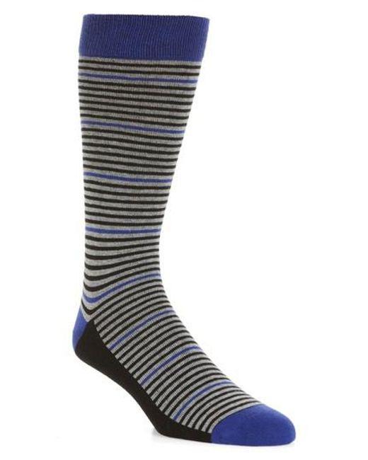 Ted Baker - Blue Pinstripe Socks for Men - Lyst