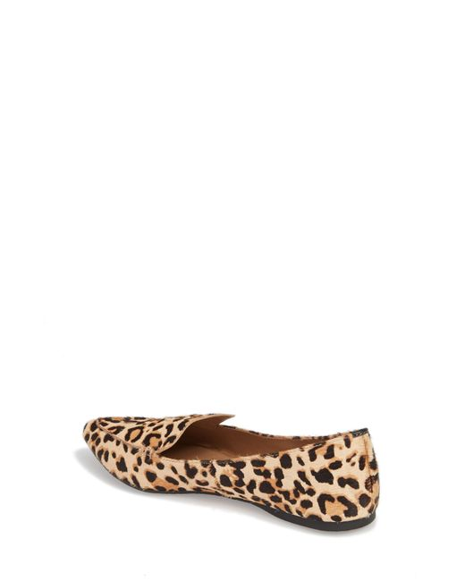 4f1bbec2405 ... Steve Madden - Multicolor Feather-l Genuine Calf Hair Loafer Flat - Lyst