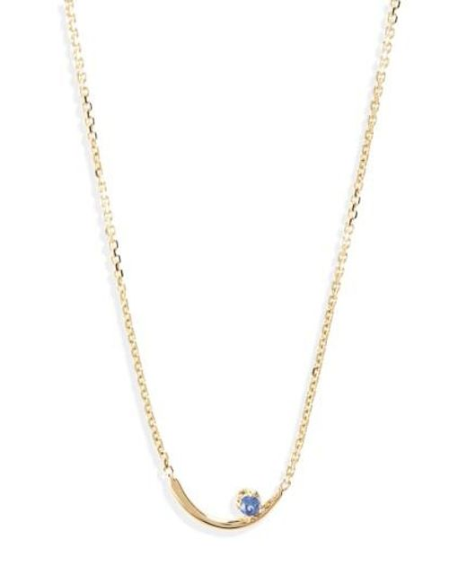 Wwake   Metallic Arc Lineage Necklace   Lyst
