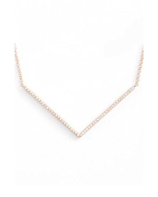 EF Collection   Metallic Diamond Pendant Necklace   Lyst