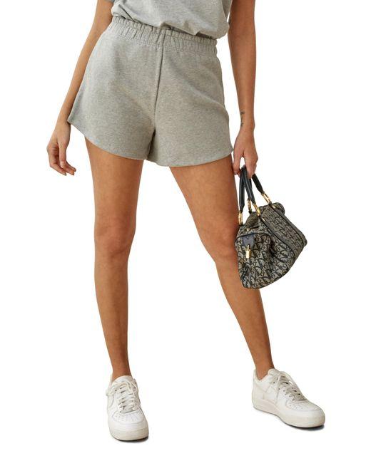 Reformation Gray Riley Cotton Shorts