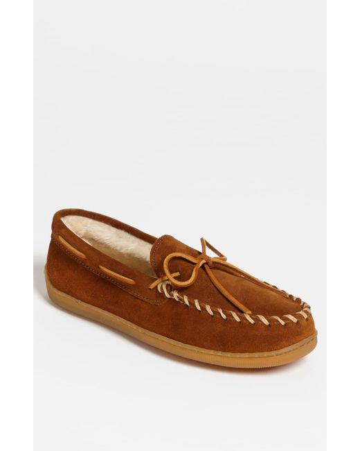 Minnetonka Brown Suede Moccasin for men