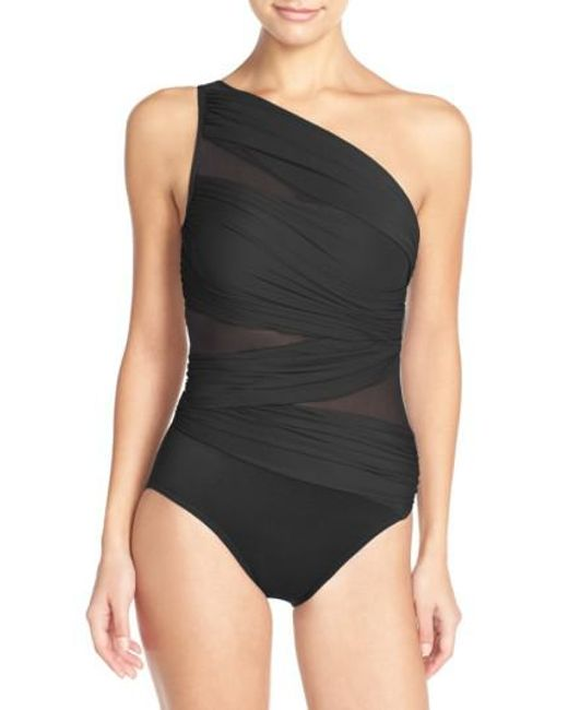Miraclesuit - Black Miraclesuit Jena One-shoulder One-piece Swimsuit - Lyst