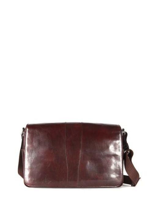 Bosca   Brown Leather Messenger Bag for Men   Lyst