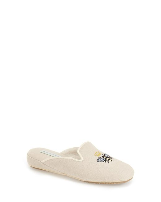 Patricia Green - Natural 'queen Bee' Embroidered Slipper - Lyst