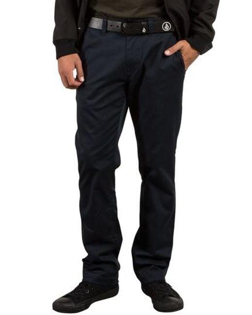 Volcom - Blue Stretch Modern Chinos for Men - Lyst