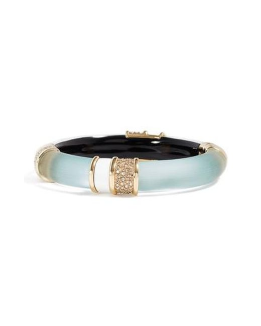 Alexis Bittar | Multicolor Crystal & Lucite Bangle | Lyst