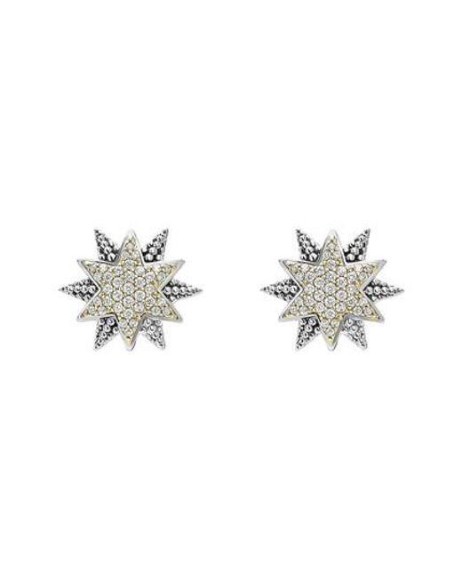 Lagos - Metallic North Star Diamond Omega Clip Earrings - Lyst