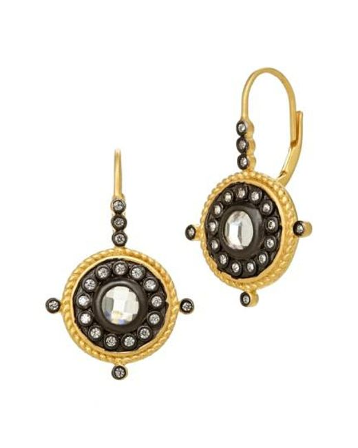 Freida Rothman | Metallic Drop Earrings | Lyst