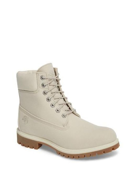Timberland - Natural Six Inch Premium Canvas Boot - Lyst