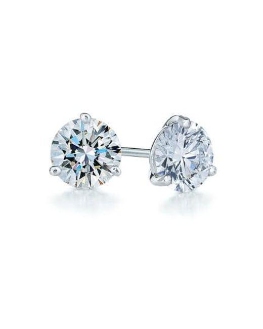 Kwiat | Blue 1.50ct Tw Diamond & Platinum Stud Earrings | Lyst
