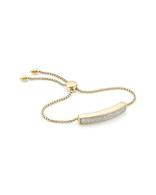 Monica Vinader   Metallic 'baja' Stone Bracelet   Lyst